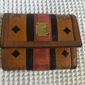 MCM Authentic Small  Trifold Wallet No.16299